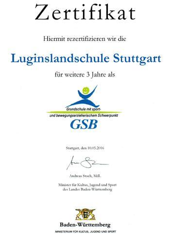 Urkunde GSB 2016